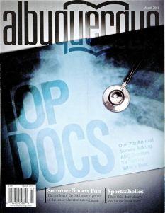 Albuquerque the Magazine March 2011 cover
